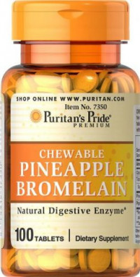 PINEAPPLE BROMELAIN CHEWABLES, 100 таб