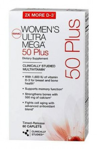 GNC Women's Ultra Mega 50 Plus 120 капсул