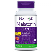 Melatonin Fast Dissolve 1 mg - 90 tabs Strawberry