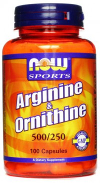 NOW Arginine & Ornithine, 100капс