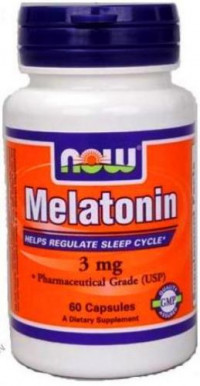 NOW Melatonin 3mg, 60капс