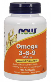 NOW Omega 3-6-9, 100 softgels