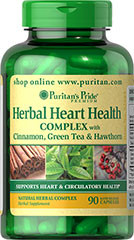 Puritan's Pride Herbal Heart Health Complex, 90 капс