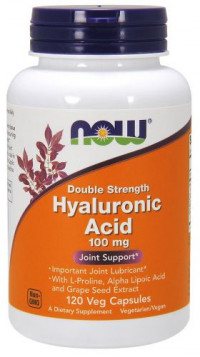 NOW Hyaluronic Acid 2X Plus 100 mg, 60 капс