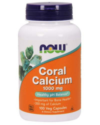 NOW Coral Calcium 1000 mg, 100 капс