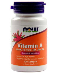 NOW Vitamin A 10,000 IU, 100 softgels
