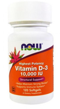 NOW Vitamin D-3 1000 IU, 180 softgels