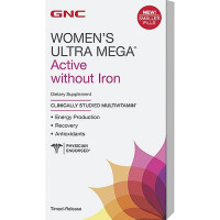 GNC Womens Ultra Mega Active Without Iron, 180 caplets