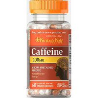 Caffeine 200 mg 8-Hour Sustained Release - 60 Capsules
