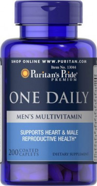 Puritan's Pride One Daily Men's Multivitamin, 100 таб