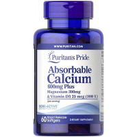 Absorbable Calcium 600mg plus Magnesium 300mg - 60 Softgels