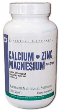 UNIVERSAL Calcium Zinc Magnesium Plus Copper, 100таб