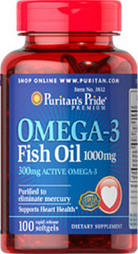Omega-3 Fish Oil 1000 mg, 100 капс