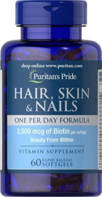 Puritan's Pride Hair, Skin & Nails, 90 таб
